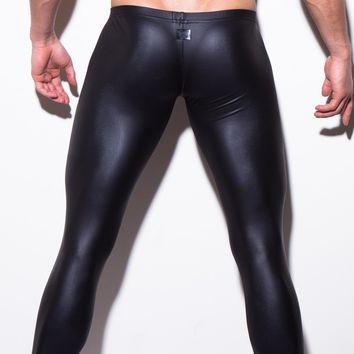 Men's Sexy Skinny Pants Performance Pu Leather
