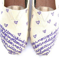 The Chloe  Purple and Cream Custom TOMS by FruitfulFeet on Etsy