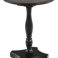 Ultimate Accents Myriad  Black Glass Top End Table