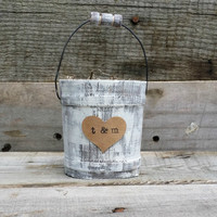 Rustic Ring Bearer Pillow Alternative, Rustic Wedding Ring Holder, Rustic Wedding Decor, Personalized Wedding Ring Pillow