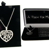 Poem for Mom Necklace