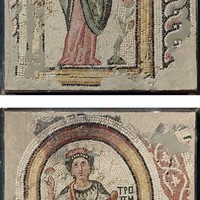 CIRCA 5TH CENTURY A.D. -TWO BYZANTINE MARBLE MOSAIC PANELS