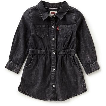 Levi´s Baby Girls 12-24 Months Denim Fit-and-Flare Dress | Dillards