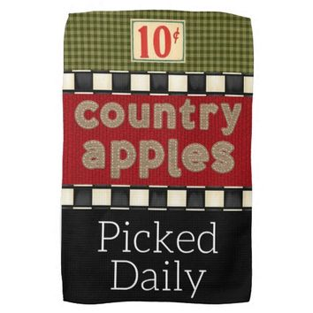 """""""Country Apple"""" Kitchen Towel"""