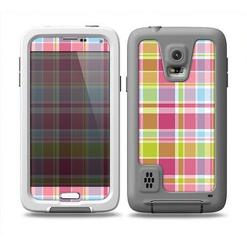 The Yellow & Pink Plaid Skin for the Samsung Galaxy S5 frē LifeProof Case