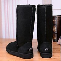 UGG Popular Women Men Classic Snow Boots Wool Fur Boots High Boots Shoes I