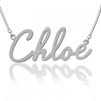 Designer Personalized Name Necklace Sterling Silver