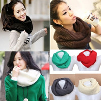 Stylish Winter Knitted Scarf Shawl Wrap Neckerchief = 1958199812