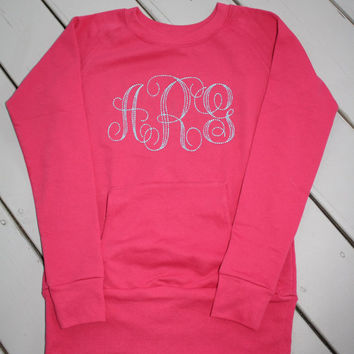 Monogrammed Sweatshirt Slim Fit