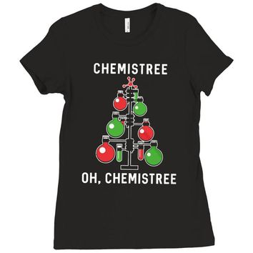 chemistree funny chemistry Ladies Fitted T-Shirt