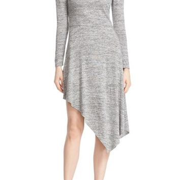 Alice + Olivia 'Geneva' Scoop Neck Stretch Knit Asymmetrical Dress | Nordstrom