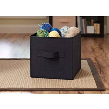 Better Homes and Gardens Collapsible Fabric Storage Cube, Set of 2,black