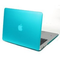KHOMO Blue Rubberized Satin Soft Touch Hard Shell Case Cover for Apple MacBook Air 13 Inch For new 2010 & 2011 models