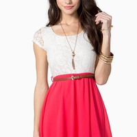 Easy Lace Belted Day Dress