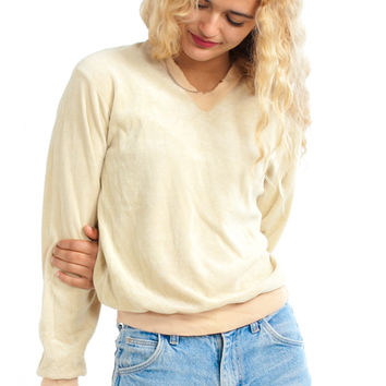 Vintage 70's Buttermilk Beat-Up Pullover - XS/S