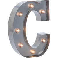 "Silver Metal Marquee Letter 9.875""-C - Walmart.com"