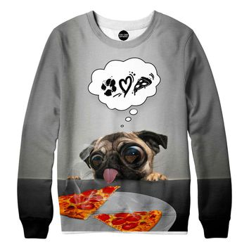 Pugs Love Pizza Sweatshirt