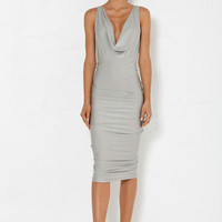 Siena Drape Dress - Ash Grey