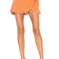 For Love & Lemons Natalia Dot Skort in Copper Dot