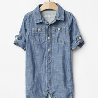 Gap Baby Chambray Roll Up One Piece