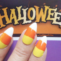 halloween candy corn nails fake nails cool foodporn funny halloween costume party stilleto fake press on glue nails almond lasoffittadiste