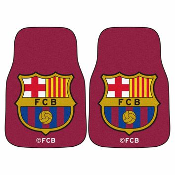FC Barcelona 2-Piece Carpet Car Auto Floor Mats