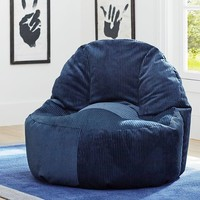 Navy Wide Wale Cord Leanback Lounger