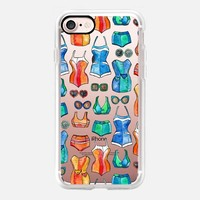 Sixties Swimsuits and Sunnies - transparent iPhone 7 Case by Micklyn Le Feuvre | Casetify