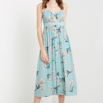 Sorentini Printed Button Down Maxi Dress