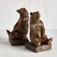 Woodland Creature A Tale of Two Grizzlies Bookends by ModCloth