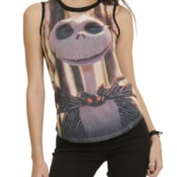 The Nightmare Before Christmas Jack Portrait Girls Muscle Top