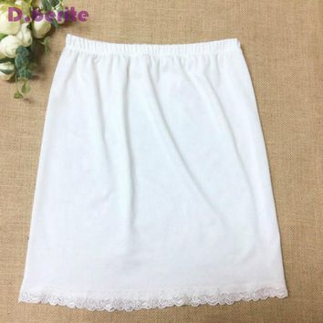 Women Waist Slip Lady Black White Short Underskirt Soft And Comfortable Cotton Length 40cm Petticoat Half Slips New YYY9381