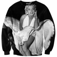 Marilyn Monroe Blowing Dress Crewneck