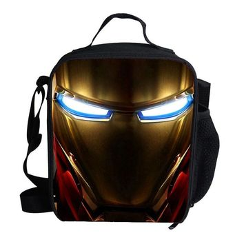 Fashion Lunch Bag For Kids School Ironman Lunch Bag Thermos For Children Boys Girls