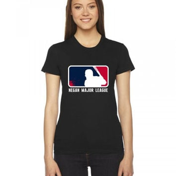 negan major league Ladies Fitted T-Shirt