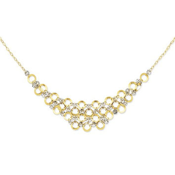 14K Two-Tone Adjustable Ustable Circle Neckla Necklace