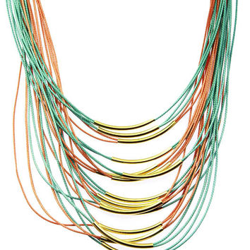 NECKLACE / MAGNETIC / MULTI STRAND / 18 INCH LONG / 3 INCH DROP / NICKEL AND LEAD COMPLIANT