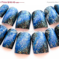 ON SALE Under the Milky Way Galaxy Nails in Medium Length