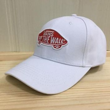 """Vans"" Unisex  Casual Fashion Letter Embroidery Baseball Cap Flat Cap Sun Hat"
