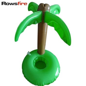 Rowsfire Inflatable Pool Float Luau Palm Tree Drink Bottle Holder Cell Phone Swimming Pool Accessories Bathing Baby Toys Set