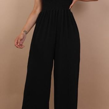 Bandeau Jumpsuit Black