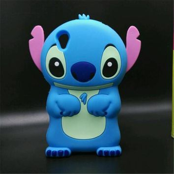 For Sony Xperia X Case Cute Cartoon 3D Stitch Silicone Mobile Phone shell Back Cover For Sony X
