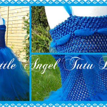 Royal Blue EVIE costume from Descendants Handmade Flower Girl Dress / Bridesmaid – Floor Length Tutu  – Ages 2 3 4 5 6 7 8 9 10 11