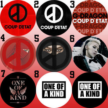 G-Dragon/GD (BigBang) Coup D'tetat & One of a Kind Bottle Cap Necklace KPOP (9 Styles)