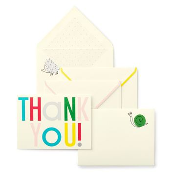 Kate Spade Hey Baby Thank You Notes