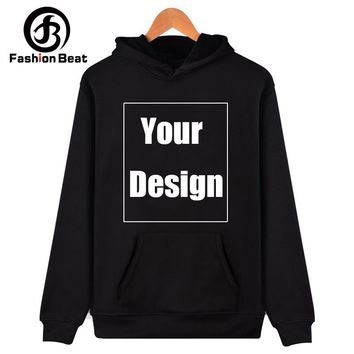Customized Men Women Sweatshirt Hoodies Print Your Own Design and Logo Unique Couple Hoodie Lover Valentine's Day Birthday Gifts