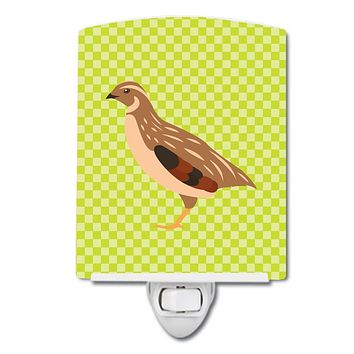 Golden Phoenix Quail Green Ceramic Night Light BB7781CNL