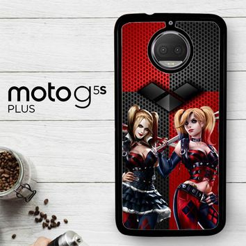 Harley Quinn Black Diamonds Logo Z2940  Motorola Moto G5S Plus Case