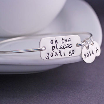 Graduation Jewelry, Oh the Places You'll Go Jewelry, Oh the Places You'll Go Bracelet, 2014
