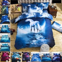 Rromantic Quilt cover Universe Outer Space Themed Bed Linen Cover Set Single double Twin/Queen 2pcs bedding sets